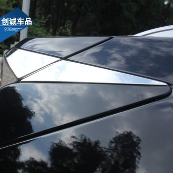 Chrome Silver Rear Spoiler Decorative Panels for 2016-2019 Cadillac XT5 2017