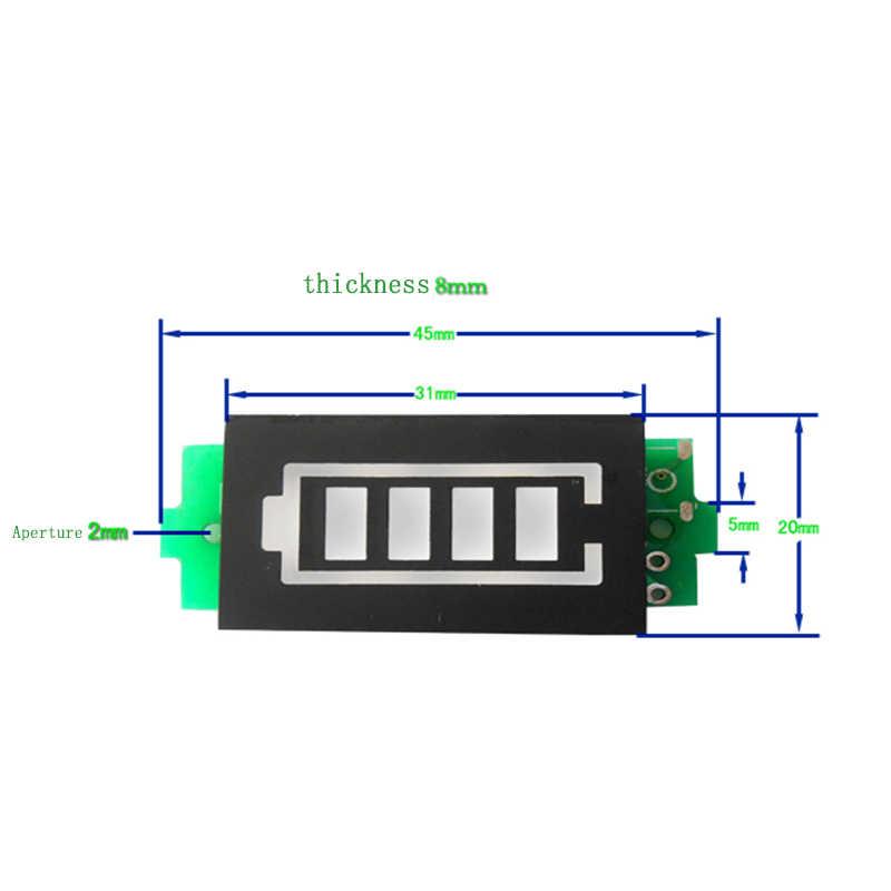 1/2/3/4/5/6/7/8S ליתיום סוללה קיבולת מחוון מודול כחול ירוק תצוגת רכב חשמלי סוללות בודק 3.7V ליתיום