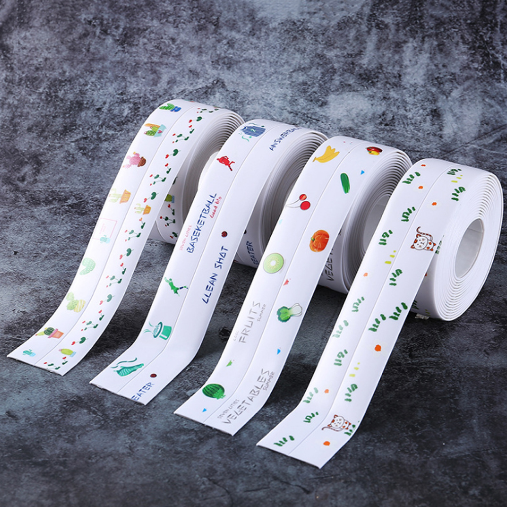 3.2mx38mm Shower Sink Bath Sealing Strip Tape Caulk Strip Self Adhesive PVC Waterproof Wall Sticker Sealers For Bathroom Kitchen image