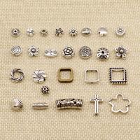 1 pièce argent plaqué breloque ou pendentifs fabrication de bijoux perforé fleur petit trou perles HJ237