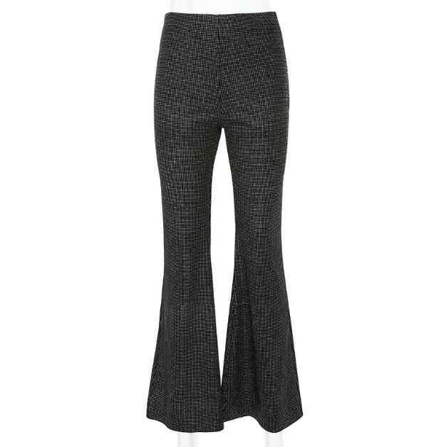 Nouveau femmes noir taille haute slim chaud argent velours micro-la pantalons décontractés