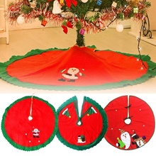 1 PC New Diameter 95cm Red Christmas Tree Decorations Skirt Ornaments Decorated