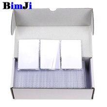 Cartão rfid 100 mhz mfs50 13.56 peças, cartões inteligentes de proximidade is14443a s50 1k chip 0.8mm para acesso sistema de controle