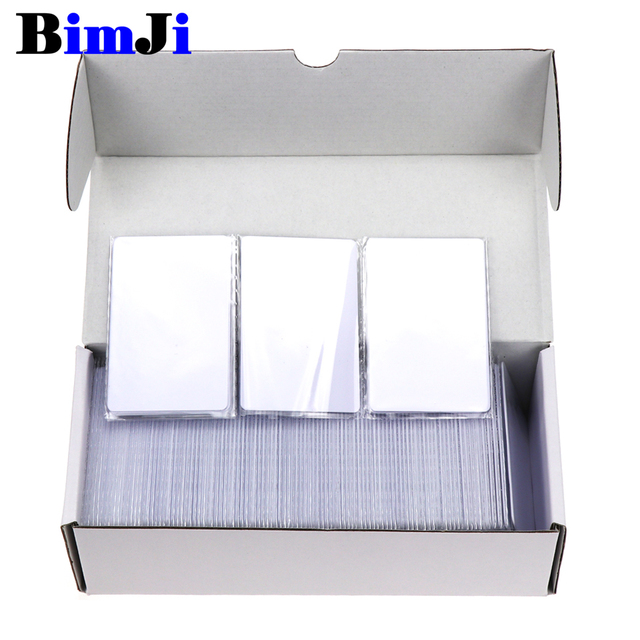 100pcs RFID Card 13.56Mhz MFS50 Proximity Smart Cards ISO14443A Cards S50 1k Chip 0.8mm For Access Control System