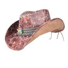 Cowgirl Hat Jazz-Hat Cowboy-Hat Western Fashion Women Brim Sombrero Outdoor Size-58-59cm