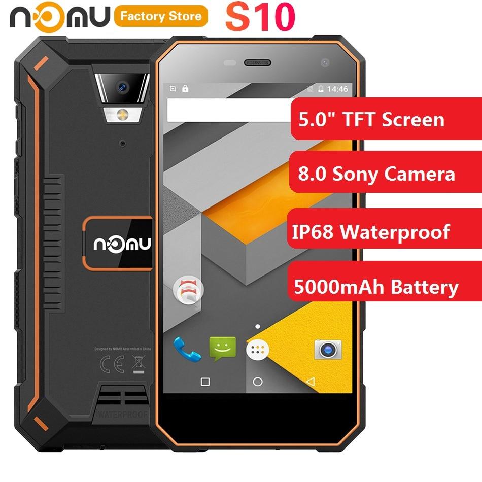 Original IP68 Waterproof NOMU S10 4G Smartphone 5.0 Inch Android 7.0 MTK6737VWT Quad Core 1.5GHz 2GB RAM 16GB ROM 8.0MP 5000mAh
