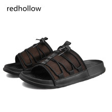 Fashion Men's Summer Shoes Breathable Mesh Mens Slippers Slip On footwear man beach sandals