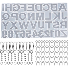 1 Set Crystal Epoxy Resin Mold Alphabet Letter Number Keychain Pendant Casting Silicone Mould DIY Crafts Jewelry Making Tools