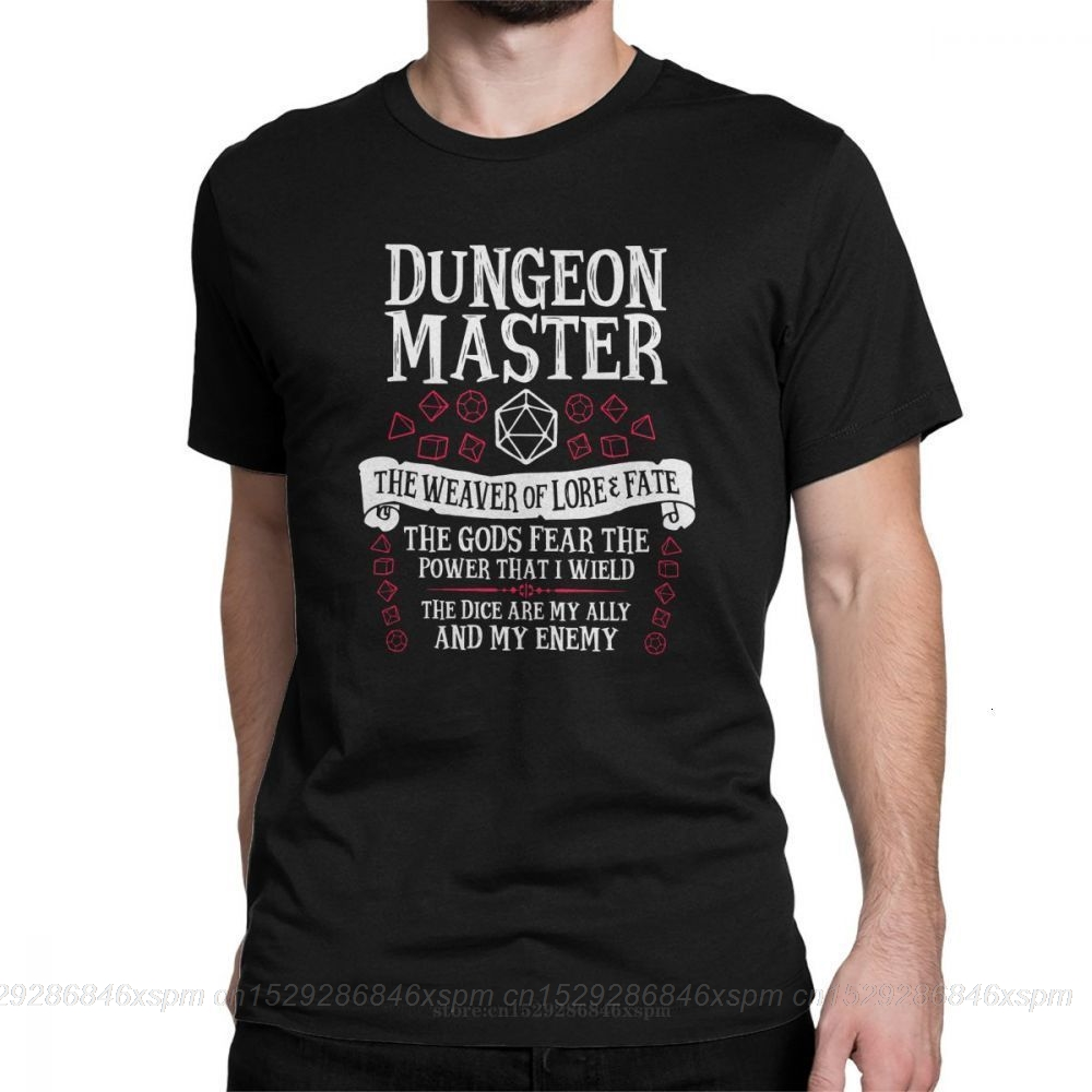one yona Dungeon Master The Weaver Of Lore Fate T-Shirts for Men Dungeons and Dragons DnD Funny Crewneck Cotton Graphic T Shirt(China)