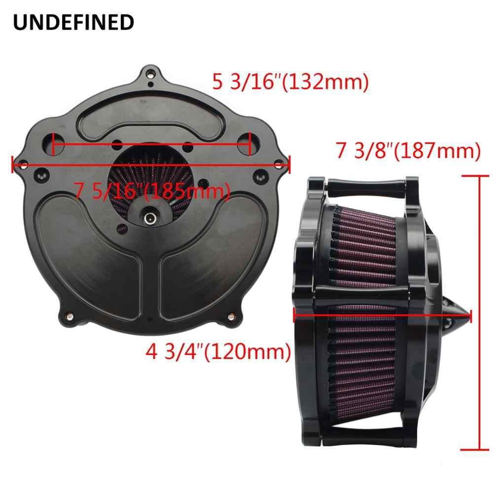 Motorcycle Air Cleaner Black Turbine Spike Air Filter Intake Kit For Sportster Iron 883 XL883 XL1200 48 72 1991-2019