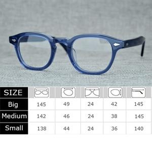 Image 4 - Handmade Lemtosh Johnny Depp Glasses Optical Glasses Frame Men Women Luxury Brand Acetate Frame Vintage Eyeglasses Logo Z082