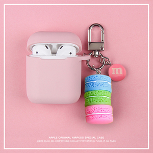 Image 5 - Cute Korean Silicone Case for Apple Airpods Case Accessories Bluetooth Earphone Cartoon Protective Cover Cherry Dog Key Ring