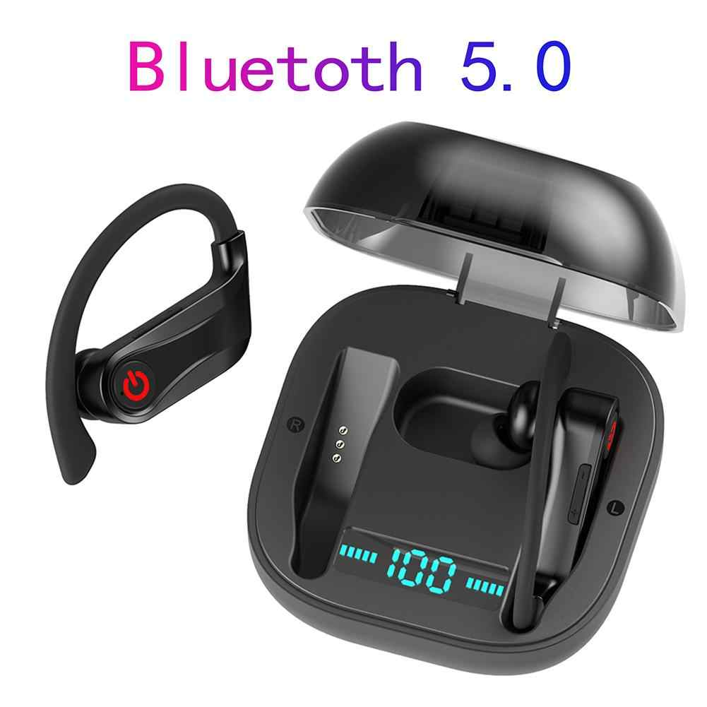 Hbq Q62 Tws TW40 Nirkabel Bluetooth 5.0 Tangan-Free Stereo Sport Earphone Headset