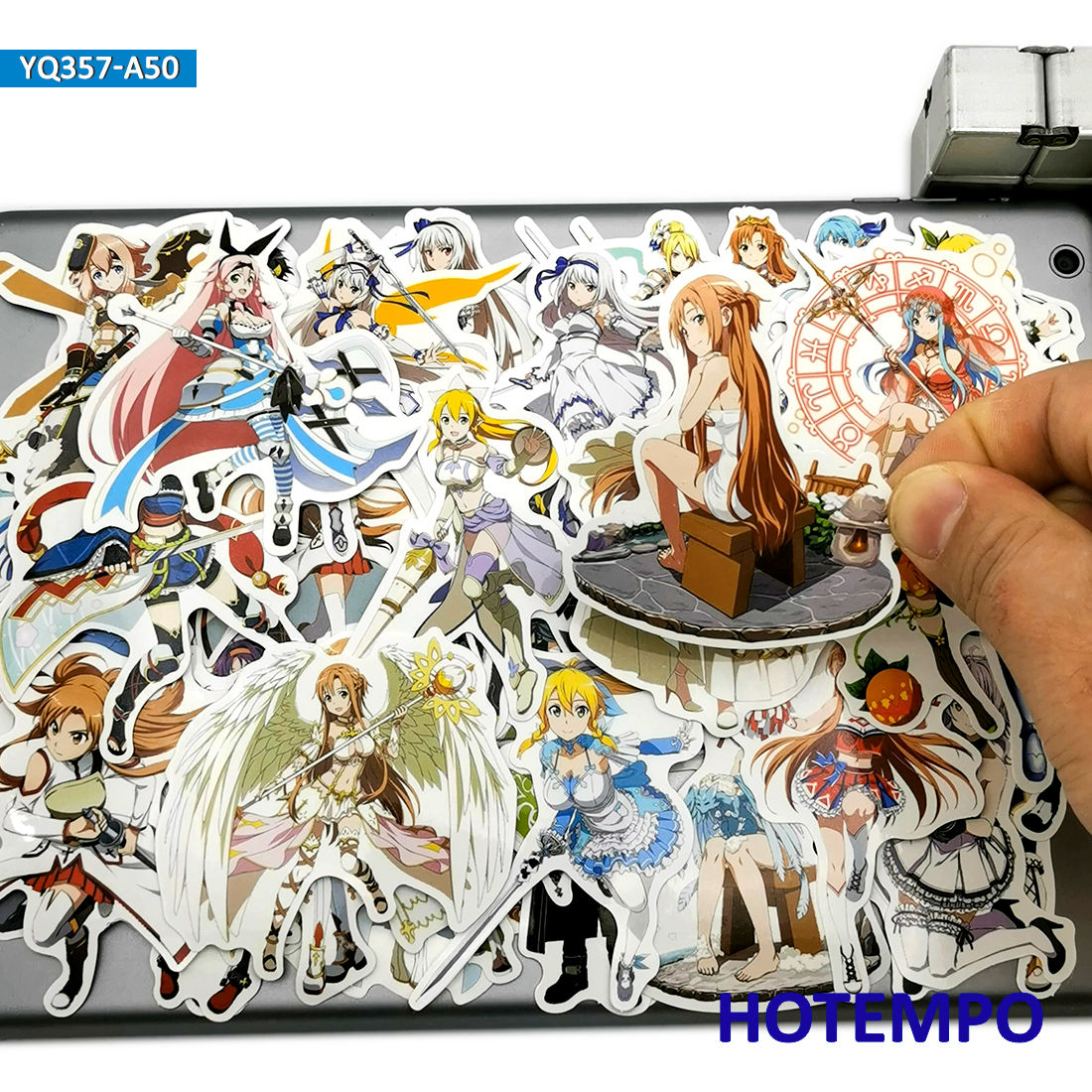 50pcs Sword Art Online SAO Anime Games Style Stickers Toys For Kids Mobile Phone Laptop Luggage Case Skateboard Cartoon Stickers