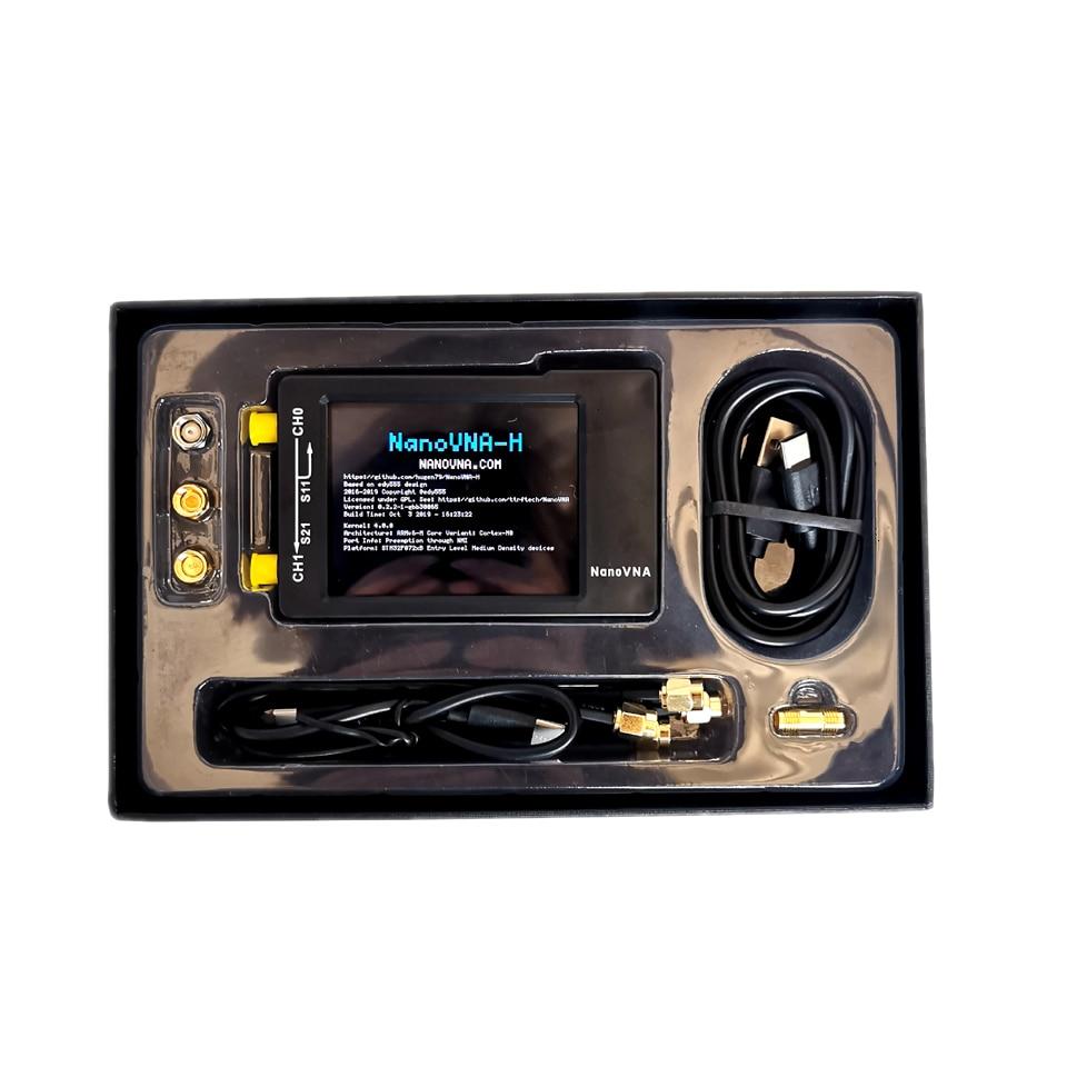 NanoVNA-H 50 кГц~ 1,5 ГГц VNA 2,8 дюймов LCDHF VHF UV векторный сетевой анализатор антенный анализатор 50 мАч батарея антенный анализатор
