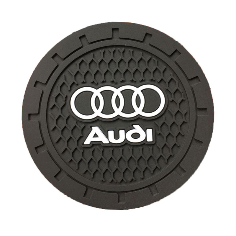 1pcs Silicone Car Non-slip Coaster Mat Case Water Coaster Pad For Audi A3 A4 A5 A6 A7 A8 Q3 Q4 Q5 Q6 Q7 B8 B6 Car Accessories