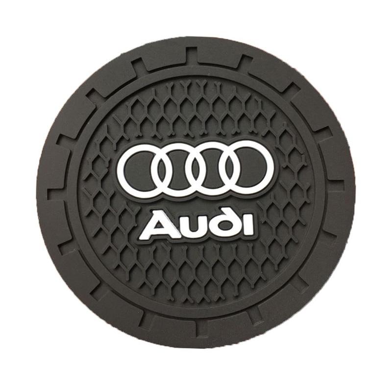1pcs Silicone Car Non-slip Coaster Mat Case Water Coaster Pad For Audi A3 A4 A5 A6 A7 A8 Q3 Q4 Q5 Q6 Q7 B8 B6 Car Accessories