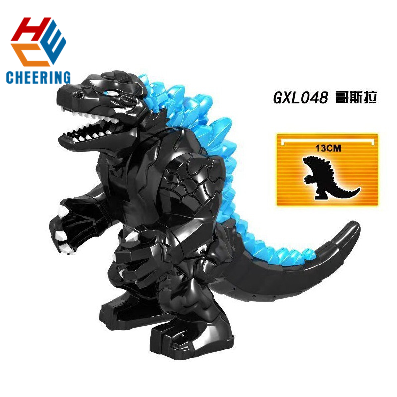 Single Sale Building Block Famous Movie Character Red Lotus Mutant  Black Super Purple Dinosaur Gift For Kid Toy GXL048