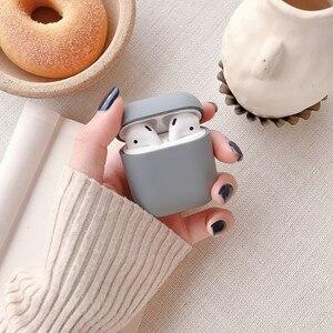 Image 2 - 애플 airpods에 대 한 원래 1 2 무선 블루투스 이어폰 케이스 애플 airpods에 대 한 다채로운 캔디 새로운 pc 하드 귀여운 커버 상자 케이스