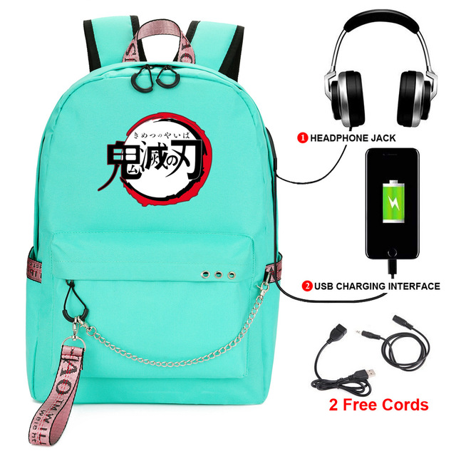 Купить anime demon slayer: kimetsu no yaiba backpack women men printed картинки