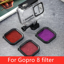 Diving Red Pink Purple Filter Lens 45mm for GoPro Hero 8 Waterproof Housing Case Sports