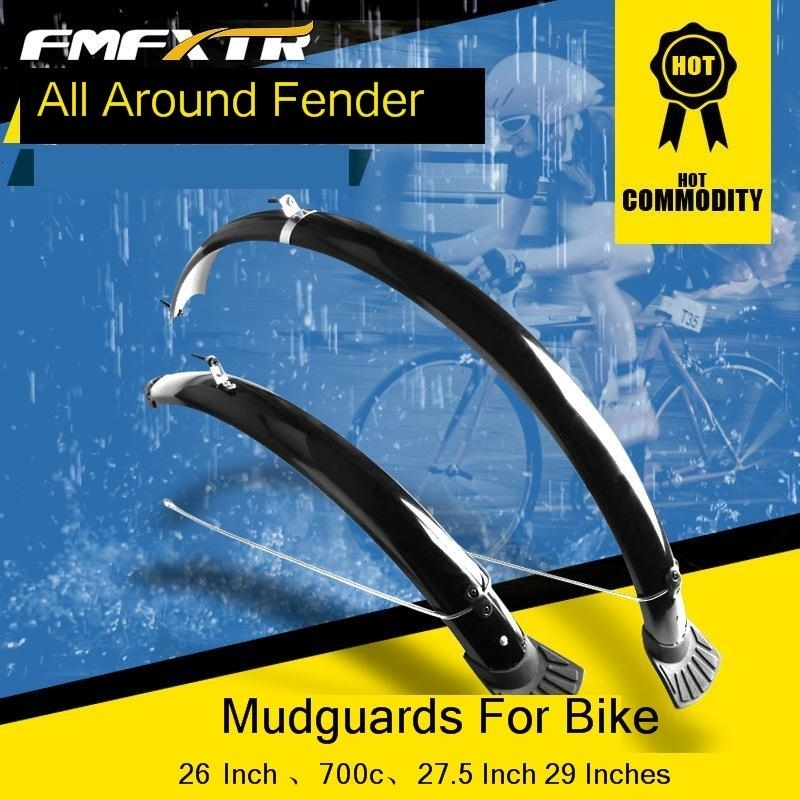 2PCs Bicycle Mudguard Mountain <font><b>Bike</b></font> <font><b>Fenders</b></font> Set Road <font><b>Bike</b></font> Front <font><b>Rear</b></font> Durable <font><b>Fender</b></font> Wings for Outdoor Cycling Accessories image