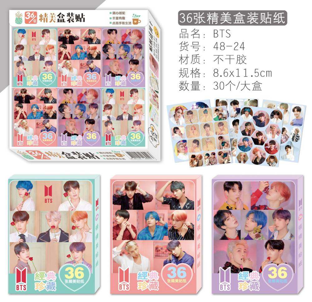 10 Boxes/lot KPOP BOYS Sticker TOY JV SUGA JIN JUNGKOOK JIMIN JHOPE Magic 3d Wall Boxed Stickers For Kids Rooms 8.6×11.5cm