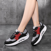 Sneakers Women Flats Platform Shoes Woman Flying Weaving Mesh Breathable Air Cushion Casual Lace-up Zapatos De Mujer Socks Shoes 2020 summer new women shoes fashion sneakers mesh breathable flats shoes woman lace up shallow zapatos de mujer ladies shoes