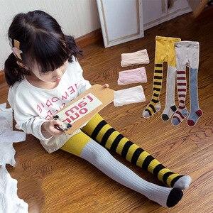 Collants de printemps et d'automne pour petites filles | Jolis collants en coton à rayures, accessoires pour filles