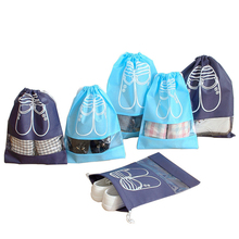 2pcs/lot Non-Woven Fabric Shoes Storage Bags Women Men Dustproof Cover Travel Beam Port travel
