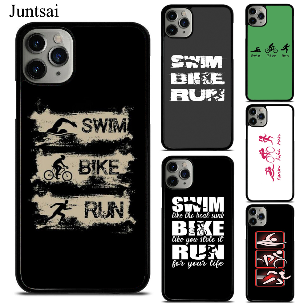 <font><b>Swim</b></font> <font><b>bike</b></font> <font><b>run</b></font> triathlon telefone caso fundas para iphone 11 pro max 7 plus 6 s 5S 8 plus x xs max xr image
