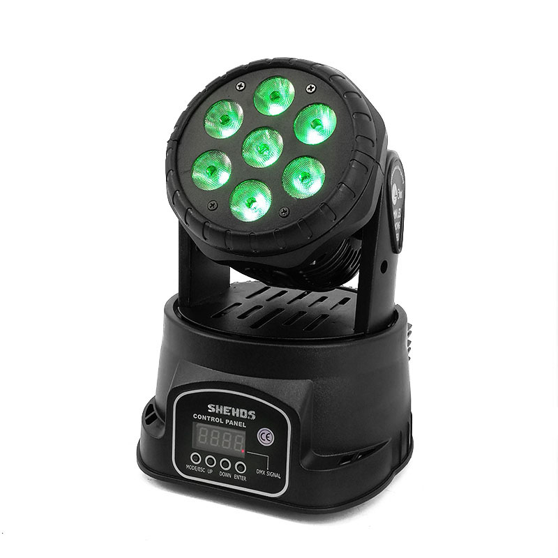 Image 5 - High Quality LED Mini Moving Head Wash Light 7X12W RGBW 4in1 Moving Heads DMX stage light stroboscope DJ Nightclub Party Concert-in Stage Lighting Effect from Lights & Lighting
