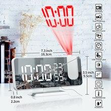 Alarm-Clock Projection Table Mirror-Screen Desktop-Clocks Radio Office Digital LED USB