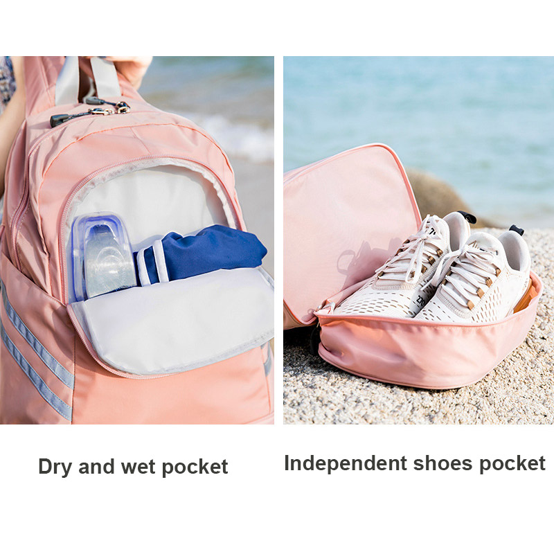 Image 2 - Women Gym Backpack Traveling Bag Fitness Bags for Shoes Training Dry And Wet Sack Gymtas Sac De Sport Mochila Swimming XA874WAGym Bags   -