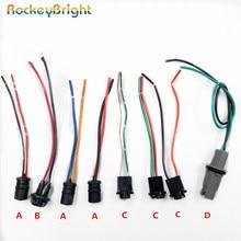 Rockeybright 2-4 шт. T10 W5W светодиодный держатель лампы Кабель-розетка T10 194 светодиодный интерьерная Лампа адаптер разъем провода жгут разъем