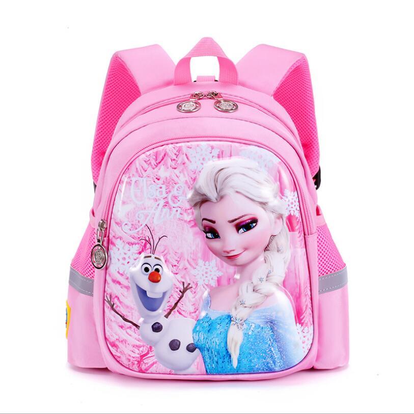 New Children Princess School Bag Boys Girls elsa Cartoon Kindergarten Schoolbags Kids Orthopedic Backpacks 4-13 Year