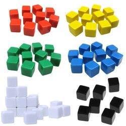 20 pces 16mm dice canto quadrado dados em branco jogo de tabuleiro diy 6 lados dados graváveis