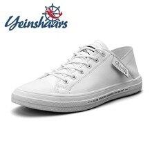 Zapatillas de deporte de cuero genuino para hombre, zapatos casuales de alta calidad, de marca de lujo, cómodos, para caminar, para verano