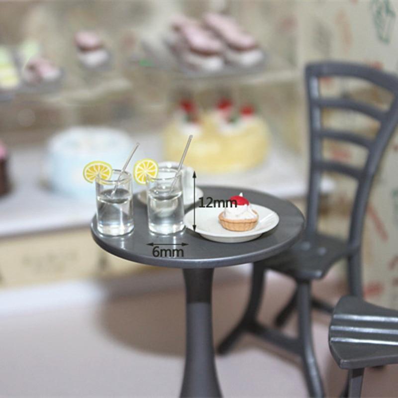 Miniature-Accessories Action-Figure Cup-Drinks-Model Lemon Simulation 2pcs Water-Cup