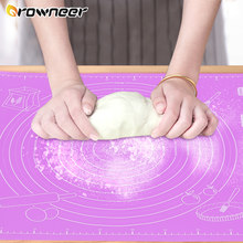 Tapis de cuisson en Silicone 45x60cm, grand tapis de pâte à rouler antiadhésif, support pour machine Sugarcraft, Fondant, Pizza, biscuits et brownies