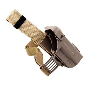 Image 3 - Tactical Gun Holster For Glock 17 19 22 23 26 31 Airsoft Pistol Drop Leg Holster combat Thigh gun Bag Case Hunting Accessories