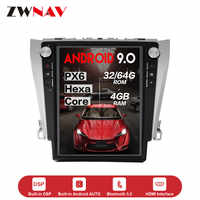 Vertical screen Tesla Style Android 9.0 Car multimedia GPS Player For Toyota Camry 2012-2016 Audio radio tape recorder head unit