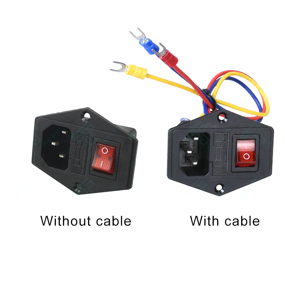 220V/110V 15A Power Supply Switch Male Socket with Fuse as 3D Printer Accessories 6