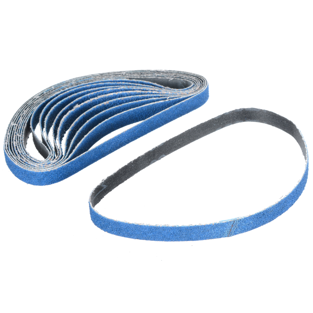 10pcs/set Mixed 40/60/80 Grit Zirconia Sanding Belt 13mm*457mm Sander Polishing Abrasive Belt