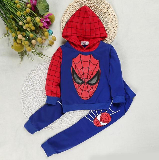 children costume boys clothing sets- Spiderman hoodies and sweatshirt  6