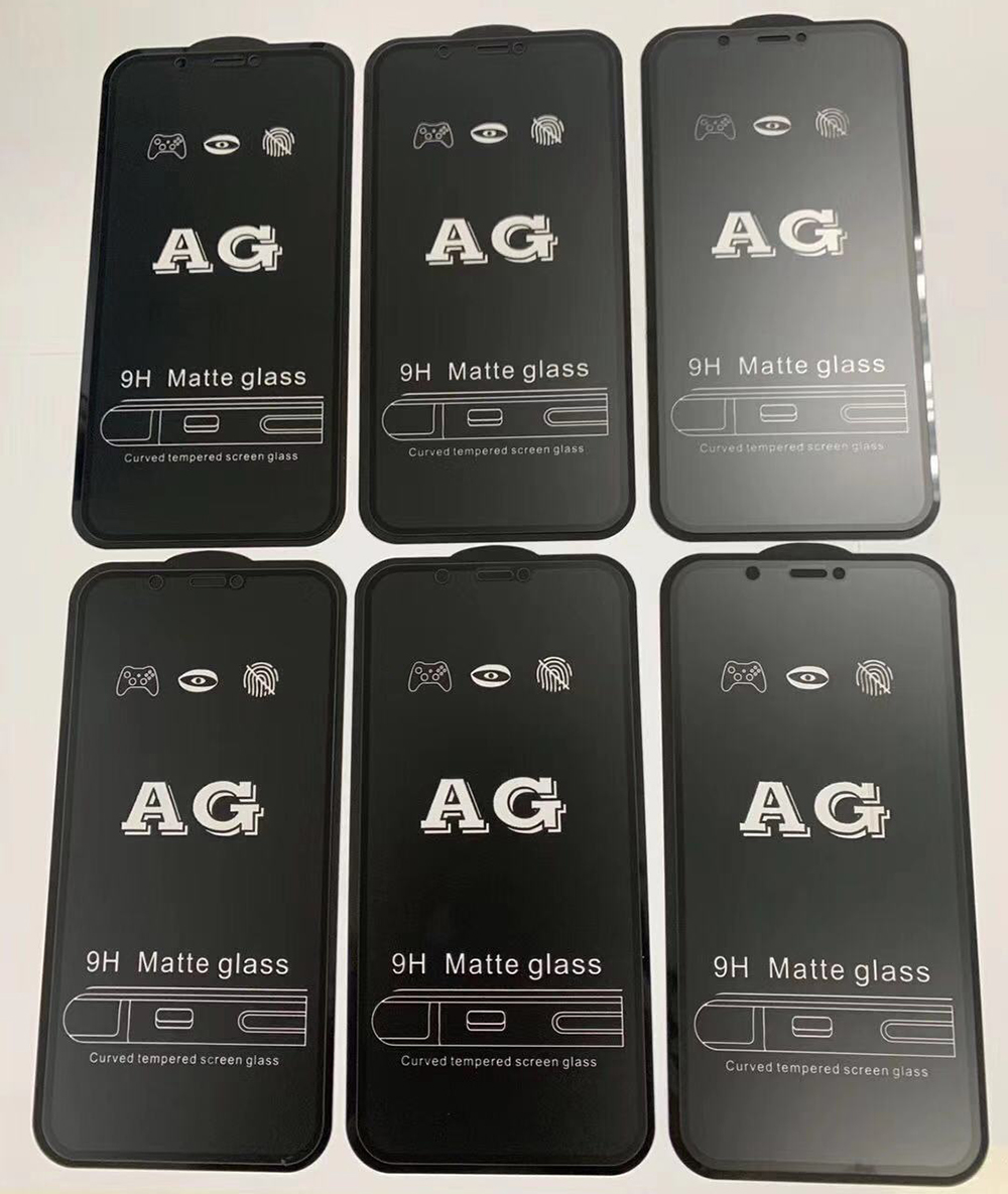 10Pcs/Lot AG Matte 9H Tempered Glass For <font><b>iPhone</b></font> 11 11Pro Max <font><b>XS</b></font> Max XR <font><b>X</b></font> 8 7 6 6S Plus SE 2020 Full Cover Anti-Fingerprint <font><b>Film</b></font> image