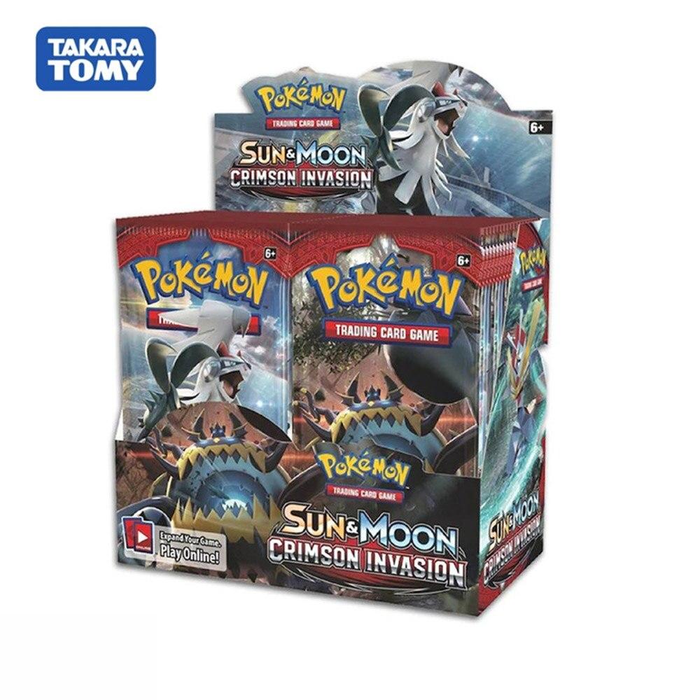 324pcs Pokemon Cards TCG: Sun&Moon Crimson Invasion Booster Box Collectible Trading Card Game Kids Toys