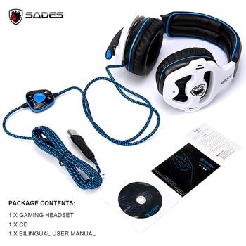 SADES SA-903 High-Performance 7.1 USB PC Headset Deep Bass Gaming Headphones With LED Micphone For PC Gamer 6