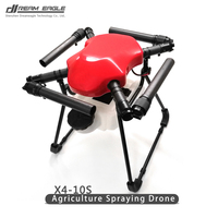 X4 10S agricultural drones Plant protection UAV spraying drone 10L frame kit