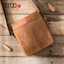 AETOO 2018 new handmade men's shoulder bag casual Messenger